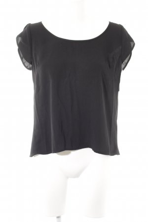 Guess Kurzarm-Bluse schwarz Casual-Look