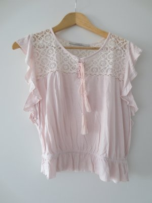 Guess Crochet Shirt dusky pink