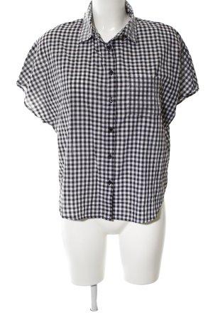 Guess Kurzarmhemd weiß-schwarz Allover-Druck Casual-Look