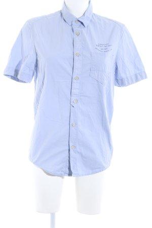 Guess Kurzarmhemd himmelblau-dunkelblau Casual-Look