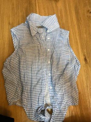 Guess Koszulowa bluzka biały-jasnoniebieski