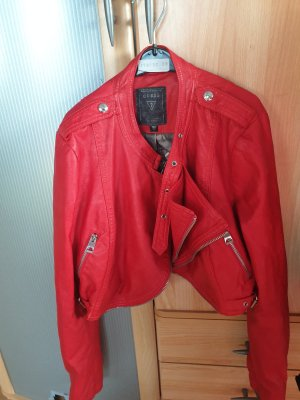 Guess Giacca in pelle rosso