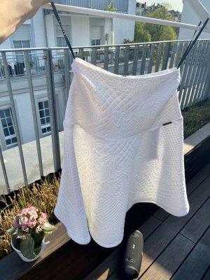 Guess Kurzer Sommerrock weißer Rock von GUESS 34 xs Silber Verschluss