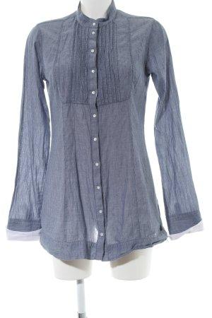 Guess Langarm-Bluse blau-weiß Streifenmuster Casual-Look