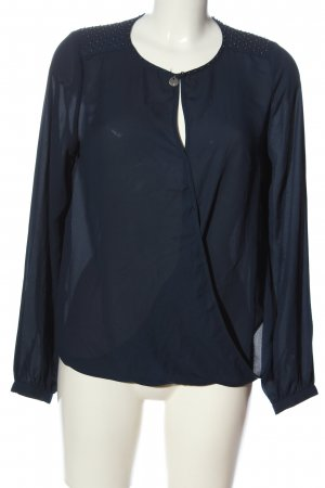 Guess Langarm-Bluse blau-silberfarben Casual-Look