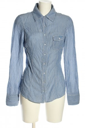 Guess Langarm-Bluse blau-weiß Streifenmuster Business-Look