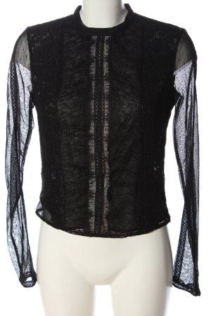 Guess Blusa de manga larga negro elegante