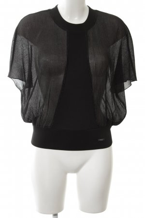 Guess Kurzarm-Bluse schwarz Elegant