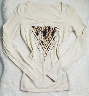 Guess Blusa de manga larga marrón oscuro-crema