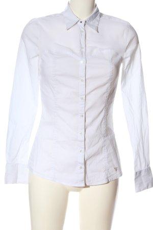 Guess Shirt met lange mouwen wit zakelijke stijl