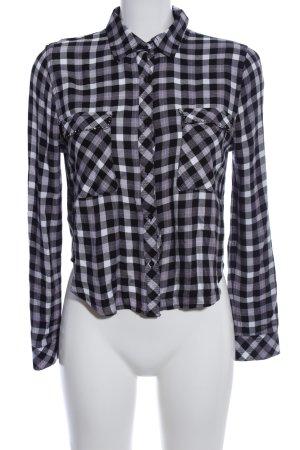 Guess Langarmhemd schwarz-weiß Karomuster Business-Look