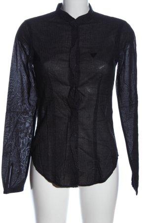 Guess Camicia a maniche lunghe nero-bianco stampa integrale stile professionale