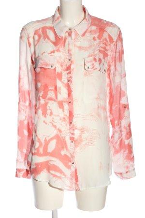 Guess Langarmhemd pink-wollweiß abstraktes Muster Elegant