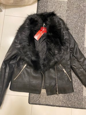 Guess Giacca invernale nero Pelle