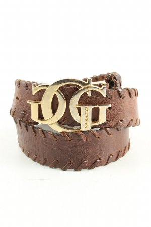 Guess Leather Belt brown-gold-colored business style
