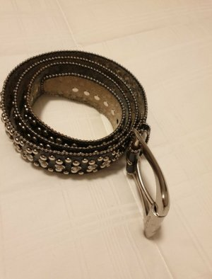 Guess Leather Belt black-silver-colored
