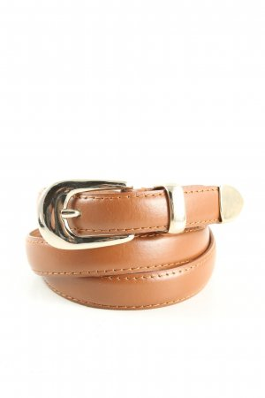 Guess Leather Belt brown-silver-colored casual look