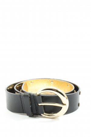 Guess Faux Leather Belt black-gold-colored casual look