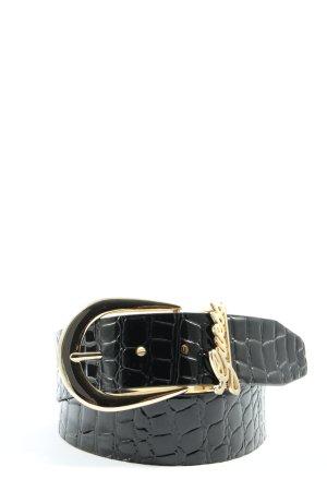 Guess Cintura in ecopelle nero-oro stile casual