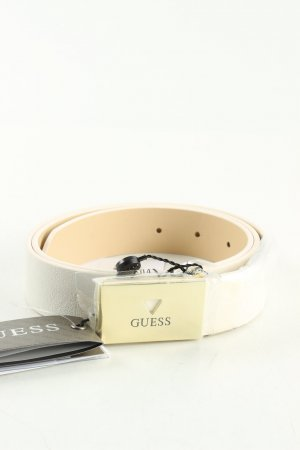 Guess Cintura in ecopelle bianco stile casual