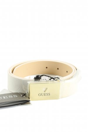 Guess Faux Leather Belt white casual look