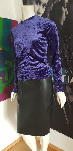 guess lederrock schwarz guess mantel purple gefüttert OVS ital designer shirt samt  deep purple