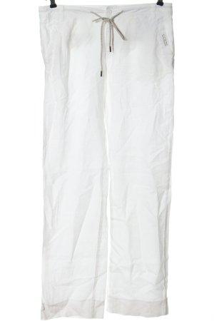 Guess Pantalon en lin blanc lettrage brodé style décontracté