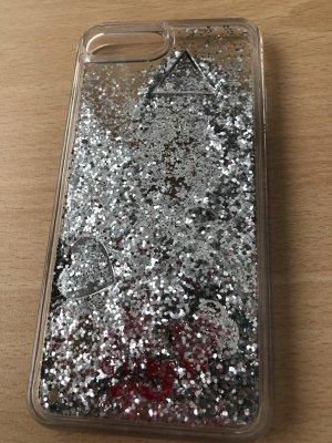 Guess Hoesje voor mobiele telefoons zilver-zwart