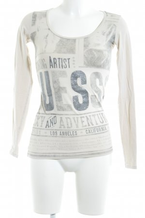 Guess Longsleeve Motivdruck Casual-Look