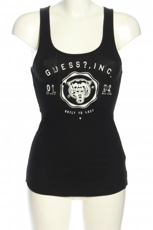 Guess Long Top black-white themed print casual look