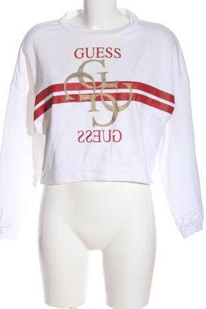 GUESS Los Angeles Sweatshirt weiß-rot Motivdruck Casual-Look