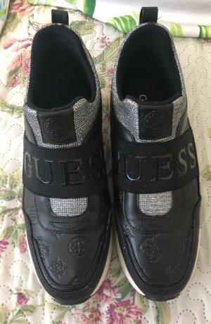 Guess Luxe Basket slip-on noir-argenté