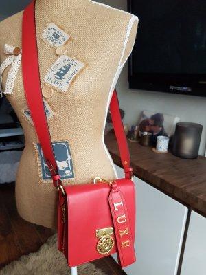 Guess Luxe Schulter-Ledertasche rot/gold NEUWERTIG