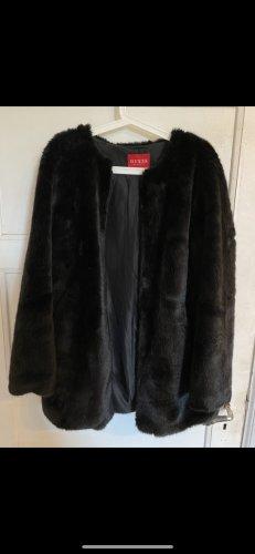 Guess Fake Fur Jacket black