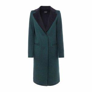 Guess Manteau en laine vert foncé