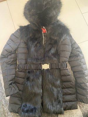 Guess Cappotto in eco pelliccia nero