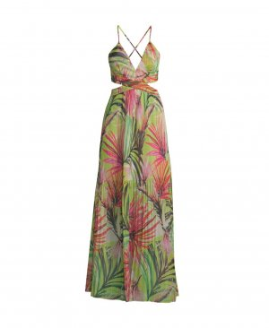 Guess Maxi Dress multicolored polyester
