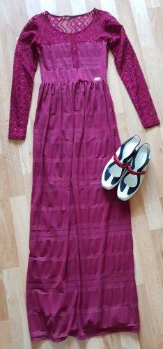 Guess Vestido largo púrpura Viscosa