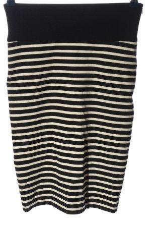 Guess Stretchrock schwarz-weiß Streifenmuster Casual-Look