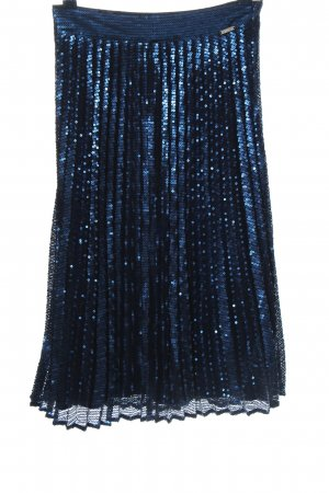 Guess Midi Skirt blue glittery