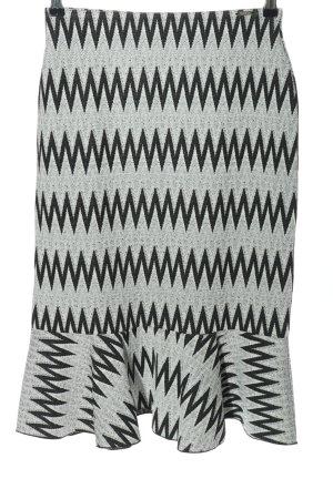Guess Spódnica midi jasnoszary-czarny Na całej powierzchni W stylu biznesowym