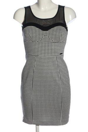 Guess Minikleid schwarz-weiß Allover-Druck Casual-Look