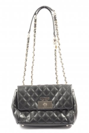 Guess Mini Bag black quilting pattern casual look
