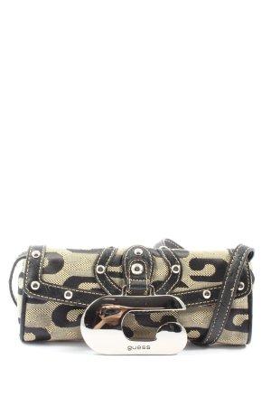 Guess Minitasche wollweiß-schwarz Allover-Druck extravaganter Stil