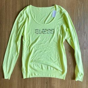 GUESS Neongrüner Pullover Grösse XL