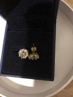 Guess Ohrringe ohrstecker Kristall Strass Stein Gold gelb
