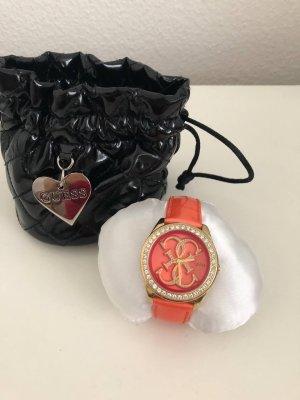 Guess orange Armbanduhr