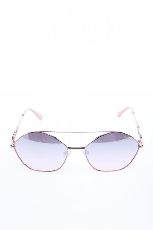 "Guess Oval Sunglasses ""Metal GU7644 Violet"" gold-colored"