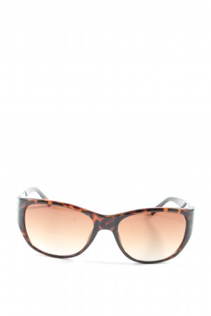 Guess ovale Sonnenbrille schwarz-braun Leomuster Casual-Look