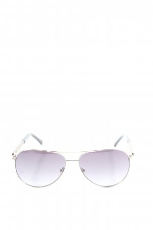Guess Oval Sunglasses lilac-light grey casual look